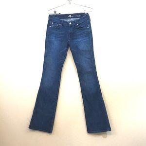 7 Seven f a mankind A Pocket Flare Jeans 29 tall